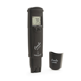 Waterbestendige zakformaat pH/EC/TDS/temp.-tester  0-14 pH  EC  0.00 - 20.00 mS/cm