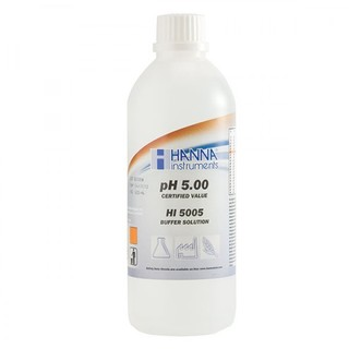 Solution d etalonnage pH 5 00  bouteille 1000 ml  certificat