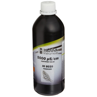 Solution d etalonnage de conductivite a 5 00 mS/cm  bouteille FDA 500 mL