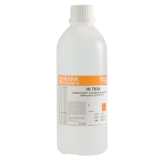 Solution d etalonnage de conductivite a 80 00 mS/cm  bouteille 500 ml