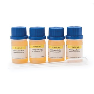 Solution electrolyte pour electrode ISE ammoniaque  4 x 30 ml
