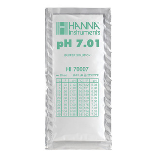 Solution d etalonnage pH 7 01  25 sachets de 20 ml
