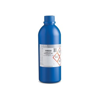 Solution d etalonnage de conductivite a 84  S/cm  flacon bleu 500 ml  certificat d analyse